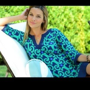 Jude Connally Dresses - Jude Connally Emerald Ikat Holly dress